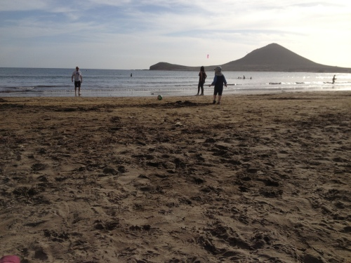 Der Strand von El Medano, Teneriffa