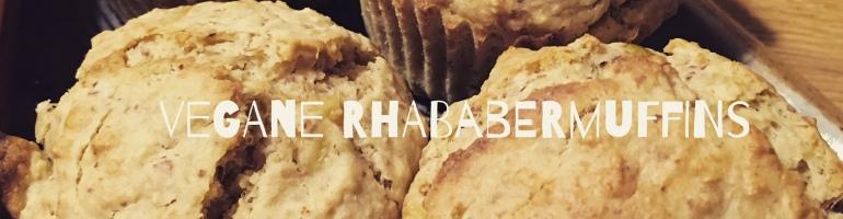 vegane Rhababermuffins