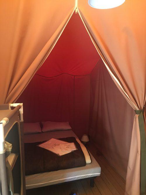 Safarizelt auf Camping Kallisté bei St. Florent